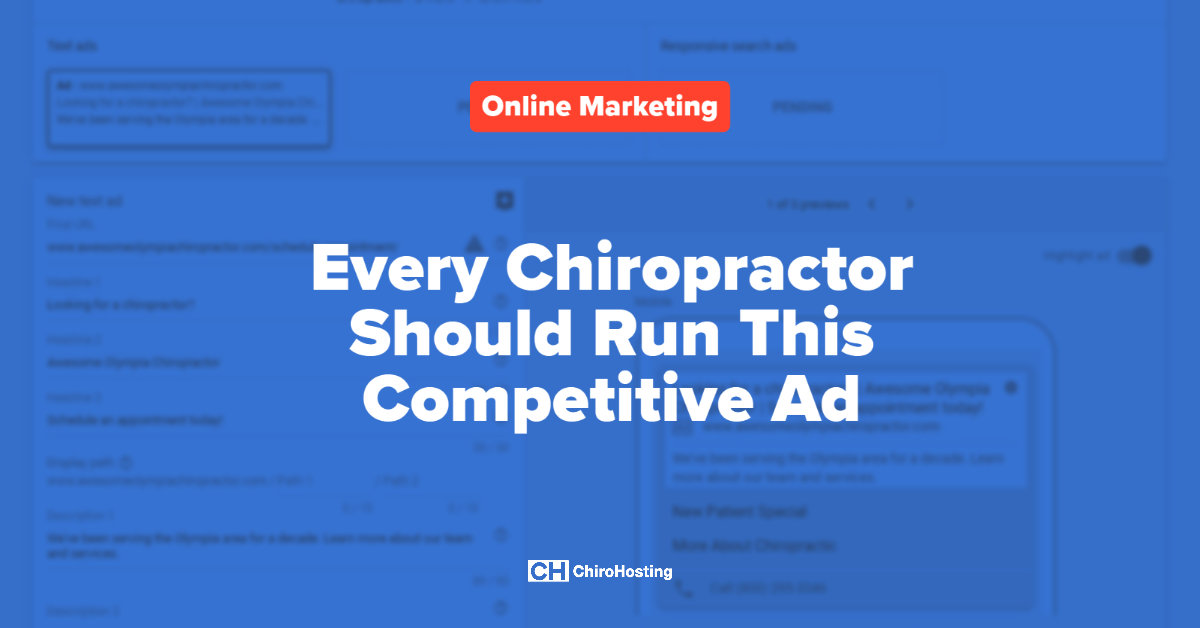 Every Chiropractor Should Run This Competitive Ad