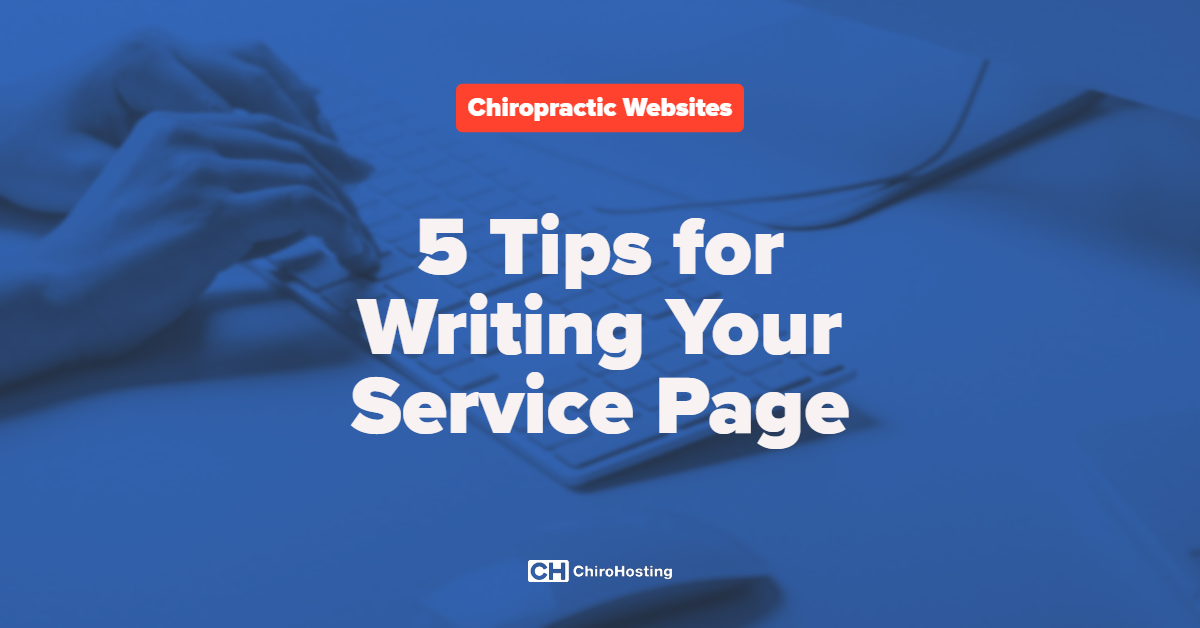 5 Tips for Writing Your Service Page
