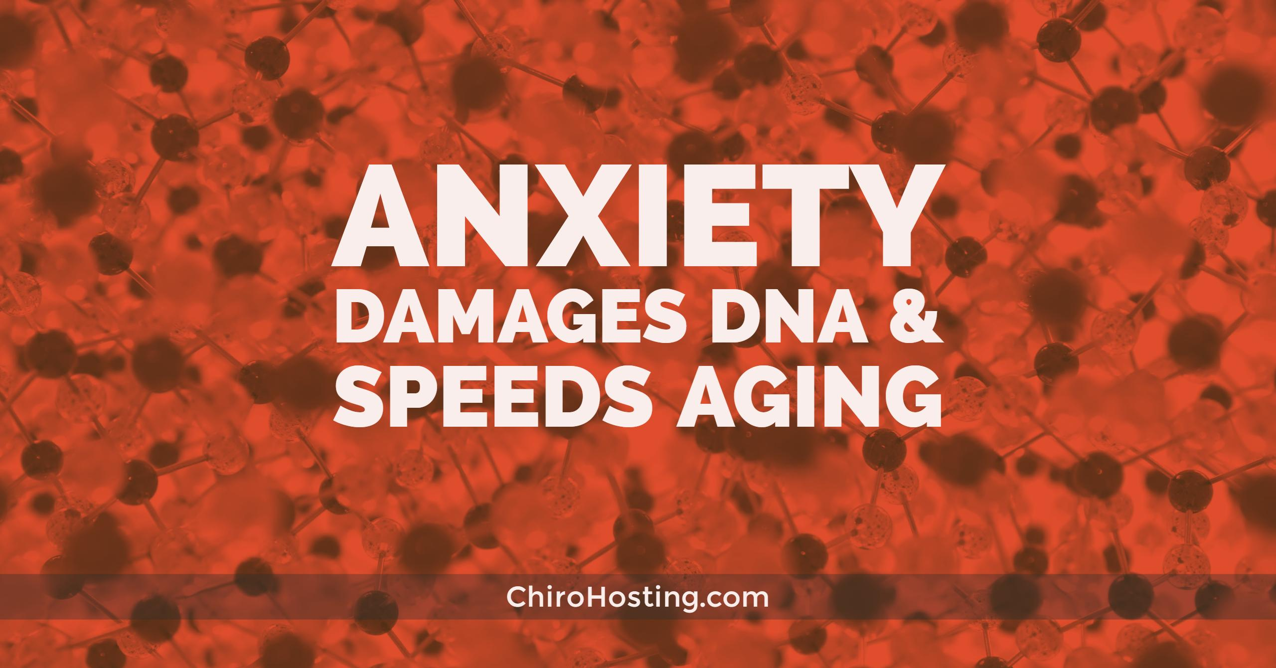 Worrying Damages DNA and Speeds Aging
