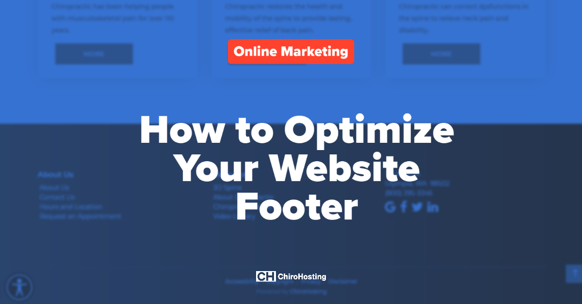 How to Optimize Your Website Footer