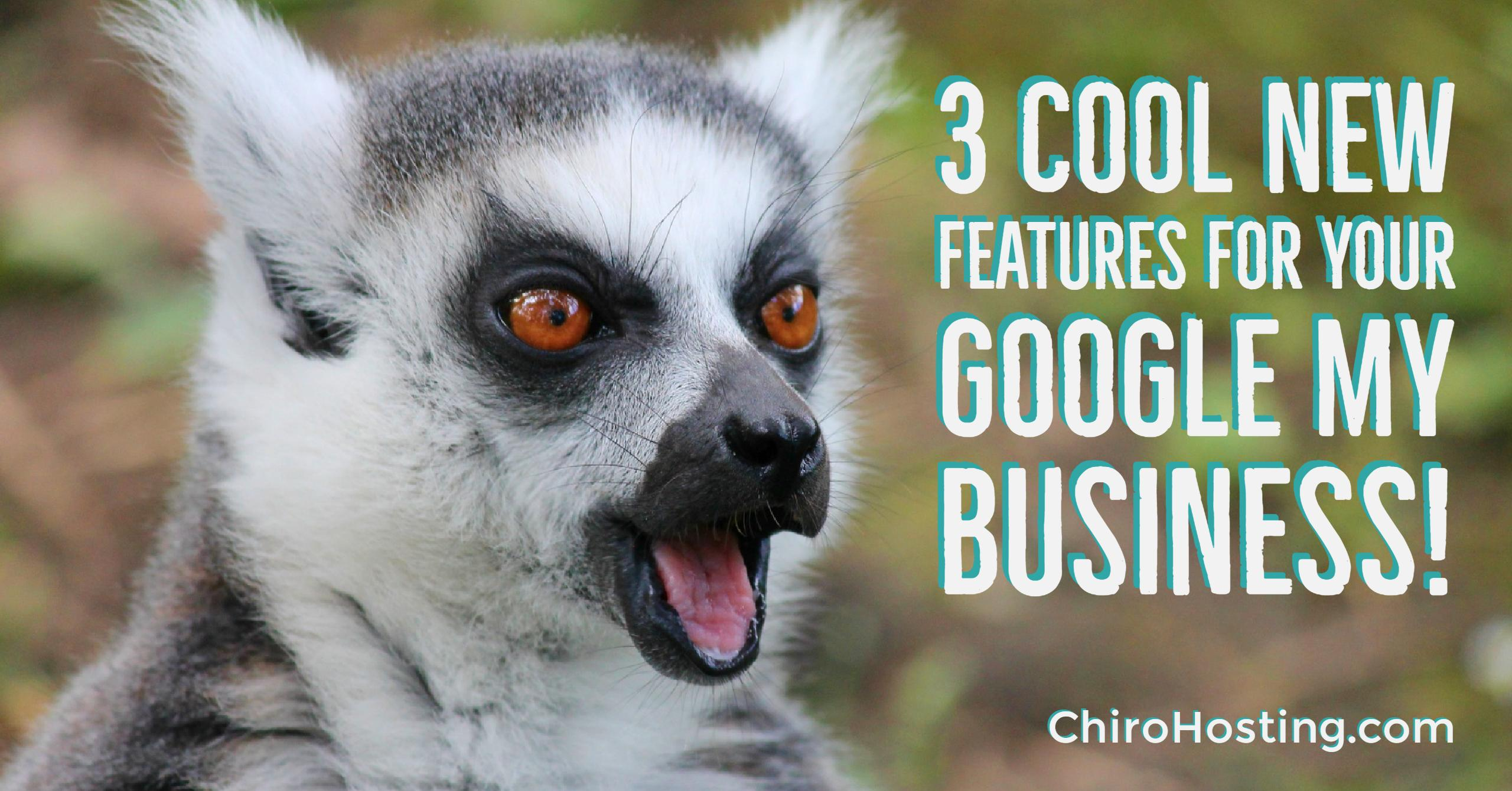 3 Cool New Features for your Chiropractic Google My Business! You NEED to be in the KNOW!