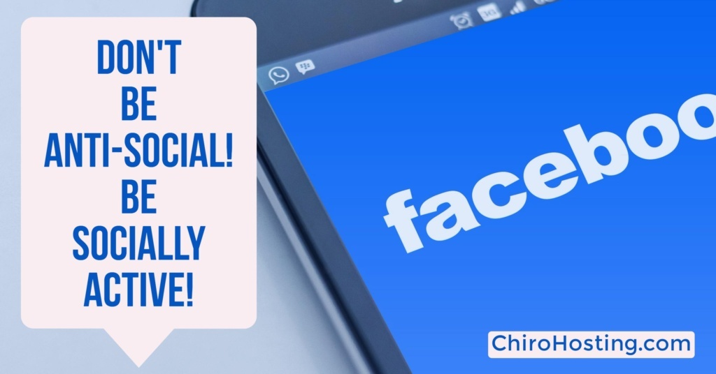 Being Anti-Social on Facebook Can Be Hurting Your Bottom Line! Be Socially Active!